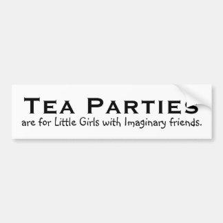 Tea parties are for little girls... bumper sticker