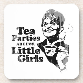 Tea Parties are for Little Girls - Faded.png Coasters
