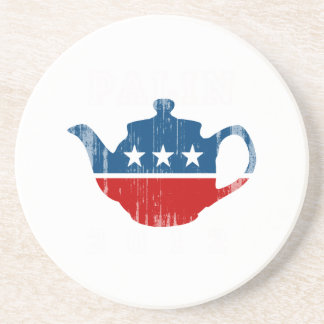 TEA PARTY 2012 white Faded png Coaster