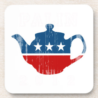 TEA PARTY 2012 (white) Faded.png Drink Coasters