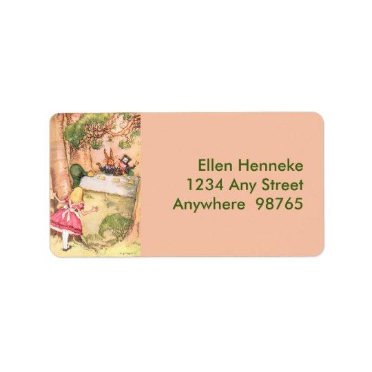 Tea Party 4 Address Label