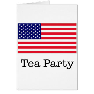 Tea Party American Flag Greeting Card