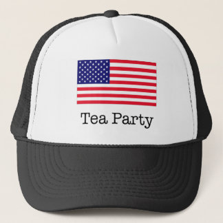 Tea Party American Flag Trucker Hat