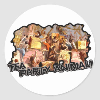 Tea Party Animal cutout Stickers