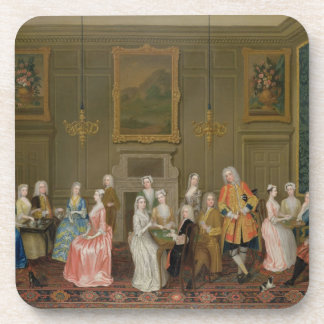 Tea Party at Lord Harrington's House, St. James's Drink Coaster