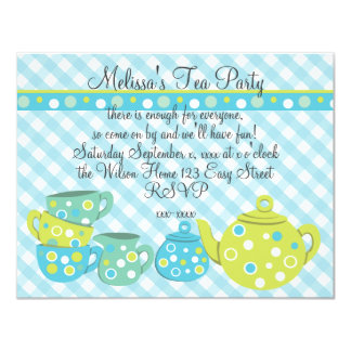 Tea Party Bedotted Card