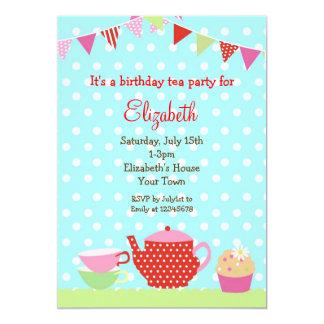 Tea Party Birthday Invitations