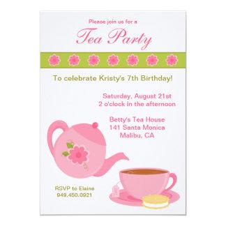 """Tea Party Birthday Party Invitation 5"""" X 7"""" Invitation Card"""