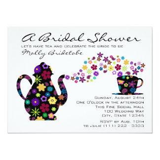 Tea Party Bouquet Bridal Shower Card