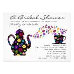 Tea Party Bouquet Bridal Shower Personalized Invitations