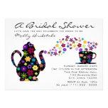Tea Party Bouquet Bridal Shower Personalized Invite