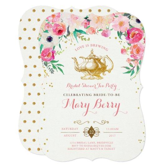 00092fa7a26 Tea Party Bridal Shower Invitation