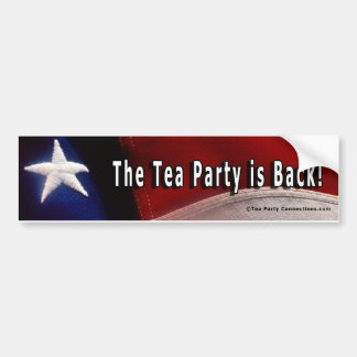 Tea Party Bumper Sticker / The Tea Party is Back!