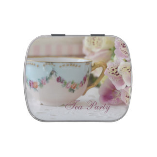 Tea Party Candy Tins After Dinner Mints Favors