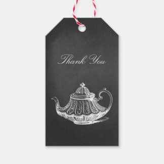 Tea Party Chalkboard Bridal Shower Thank You Gift Tags