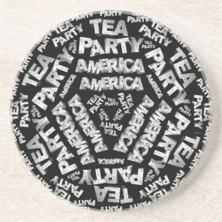 Tea Party Collage Beverage Coaster