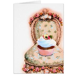 Tea Party Cupcake Design Greeting Card