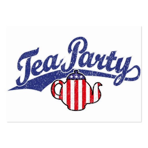 Tea Party Distressed  Logo Business Cards