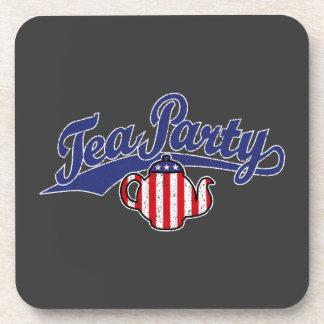 Tea Party Distressed  Logo Beverage Coasters
