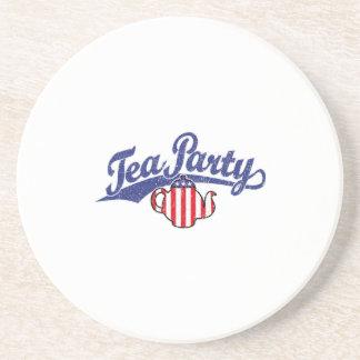 Tea Party Distressed Logo Drink Coasters