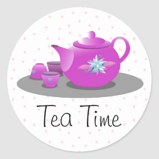 Tea Party Envelope Sticker