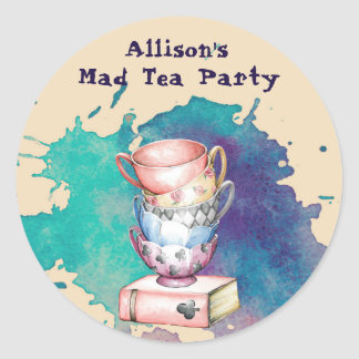 Tea Party Event Stickers