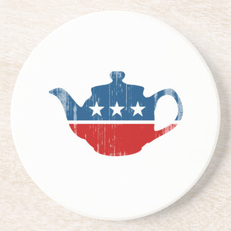 TEA PARTY - Faded.png Beverage Coaster
