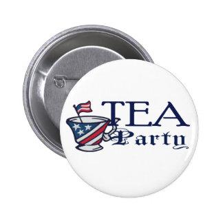 Tea Party Flag Pinback Button