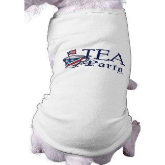 Tea Party Flag Sleeveless Dog Shirt