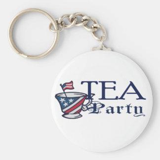 Tea Party Flag Key Chains