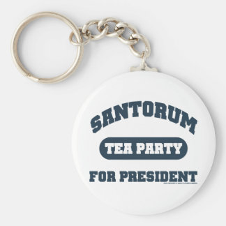 Tea Party for Santorum Basic Round Button Key Ring