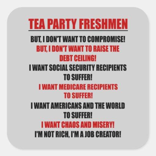 tea party freshmen stickers
