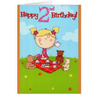 Tea Party Happy Birthday Card