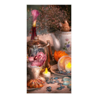 Tea Party - I would love to have some tea Customized Photo Card