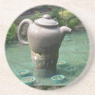 Tea Party Invitation:  Chinese Tea Park Coaster