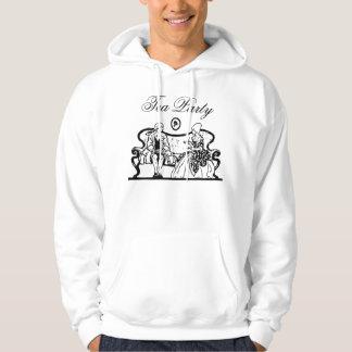 tea party mens hoodie