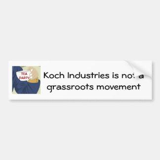 Tea Party NOT Grassroots Bumper Sticker