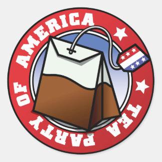 Tea Party of America Round Sticker