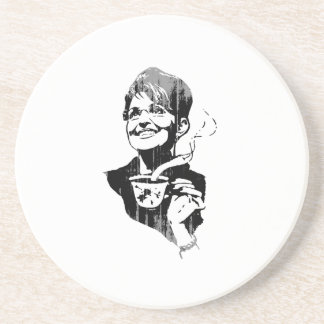 TEA PARTY PALIN Faded.png Coaster