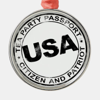 Tea Party Passport Silver-Colored Round Decoration