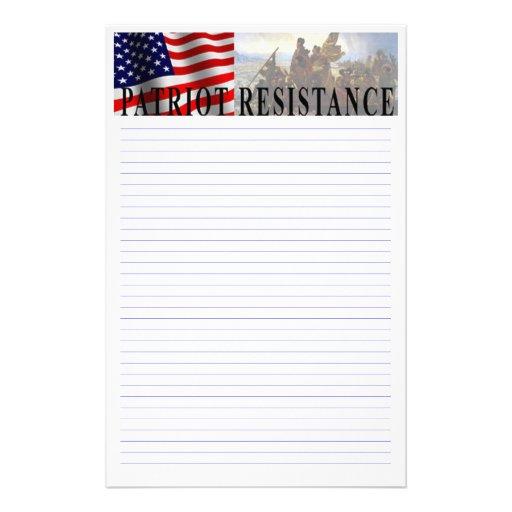 Tea Party Patriot Customizable Stationery