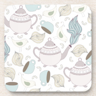 Tea Party Pattern Beverage Coaster