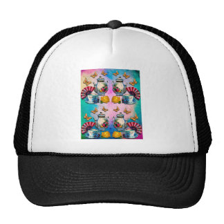TEA PARTY PATTERN CAP