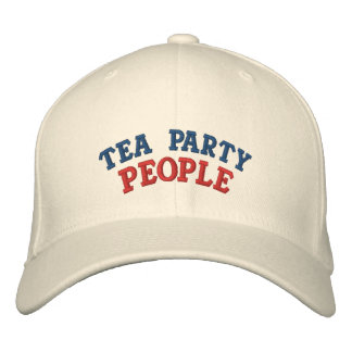 Tea Party People Embroidered Baseball Caps