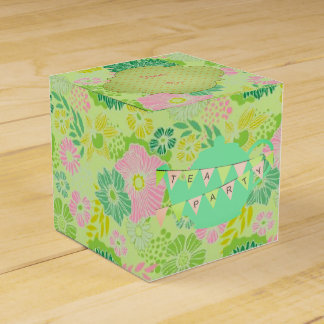 Tea Party Pink & Green Favour Box