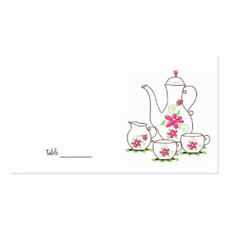 Tea Party Place Cards Business Card Templates