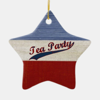 Tea Party Political Red White and Blue Patrotic Ceramic Star Decoration