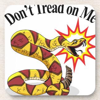 Tea Party Rattlesnake Drink Coaster