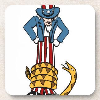 Tea Party Rattlesnake Uncle Sam Coasters