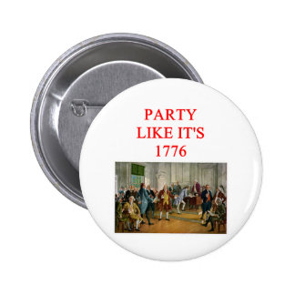 tea party republican 6 cm round badge